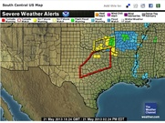 Severe weather alert in Texas