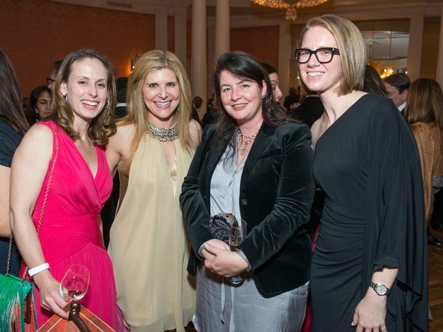22 Eleanor Gilbene, from left, Amy Krasner, Keely Sklar and Jennifer Nelson at the Inprint Ball February 2015