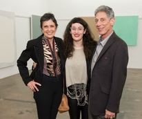 Joan Davidow, Sally Glass, Stuart Glass at Dan Rees Opening Reception