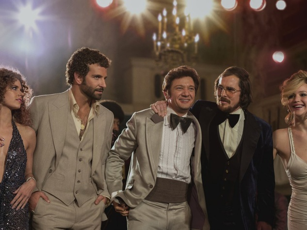 American Hustle movie scene with cast