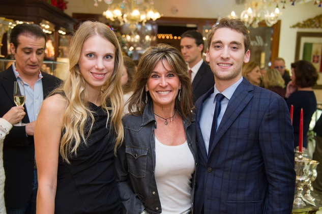 17 Kira Knightly, from left, Annie Amante and Alex Borlenghi at the Mrs. B Jewelry Launch at Valobra November 2013
