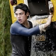 Joe Leydon Man of Steel Superman Dylan Sprayberry June 2013 with bus