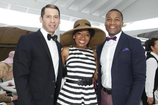 4 Andre Avina, from left, Yvette Thomas and Washington Sereatan at the Health Museum's Polo benefit April 2014