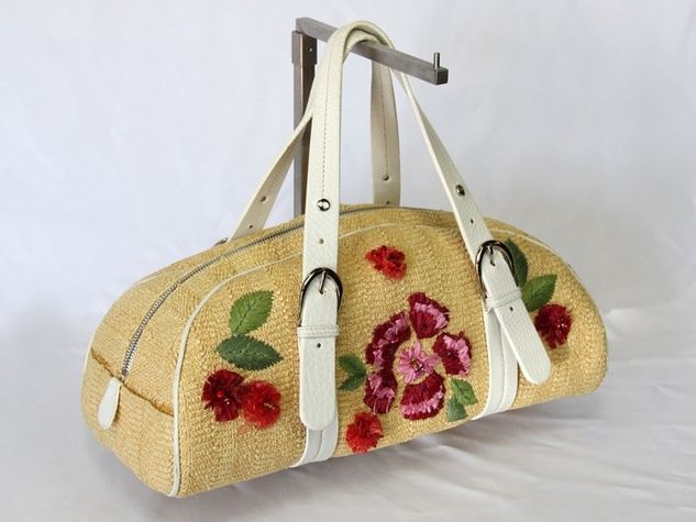 Christian Dior vintage wicker bag