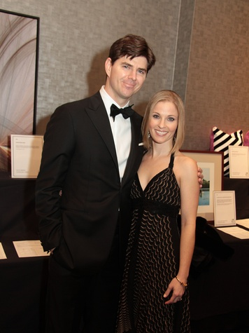 David and Allison Hamilton at West University Park Lovers Ball February 2014