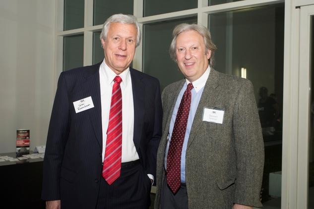 Glen Rosenbaum, left, and Stuart Feldman at the ADL Jurisprudence Award kick-off April 2015.jpg