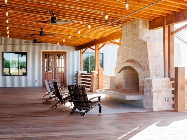 Whiskey Ranch back porch