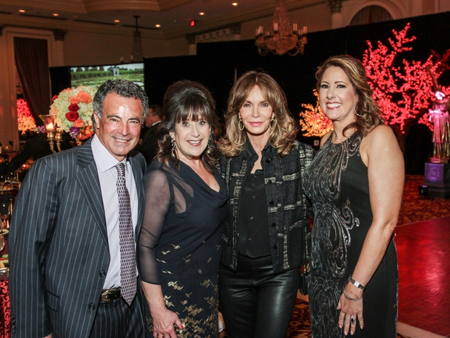 5009 Henri and Susan S. Soussan, from left, Jaclyn Smith and Christine Kirschner at the Mission of Yahweh gala May 2014