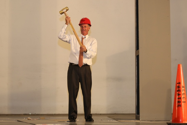 4 Roger Plank; at the Alley Theatre groundbreaking luncheon July 2014