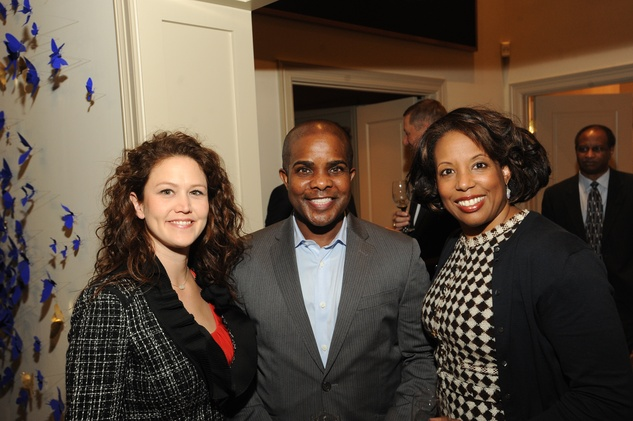 News, Shelby, Mayor Parker Award, Feb. 2015 Laurette Canizares, Alton LaDay, Desrye Morgan