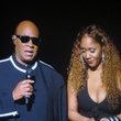 Stevie Wonder and daughter Aisha at Songs in the Key of Life concert