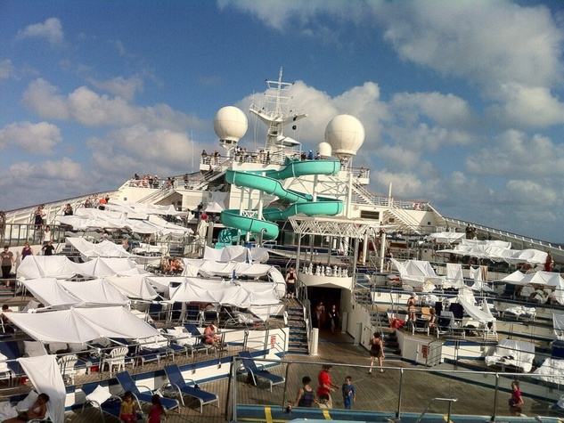 Carnival Triumph, tents on deck