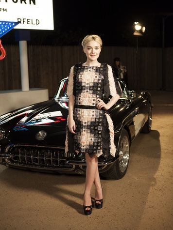Dakota Fanning at Chanel Metiers d'Art in Dallas