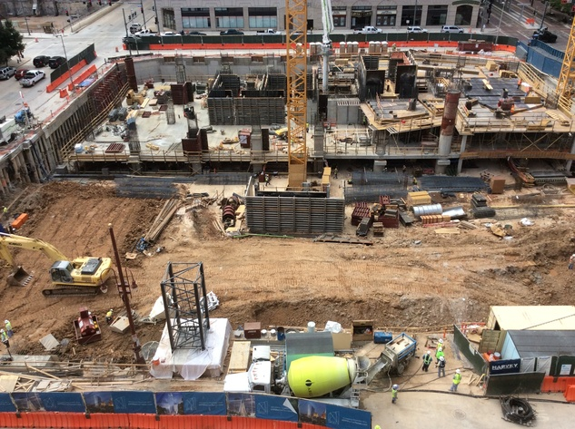 Hines is building a 48-story office tower in downtown  Houston. November 2014
