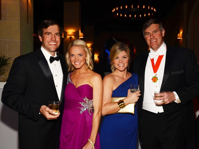Billy and Jocelyn Sullivan, from left, and Sarah and Todd Sullivan at the Knights of Momus Coronation Ball February 2014