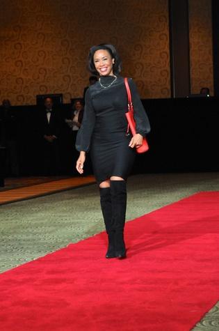 Gina Gaston at the Legacy Gala December 2014