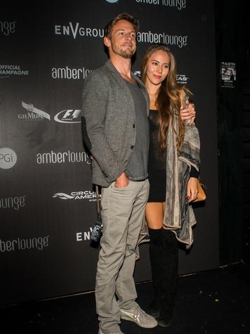 Jenson Button Jessica Michibata Amber Lounge Formula 1 Austin