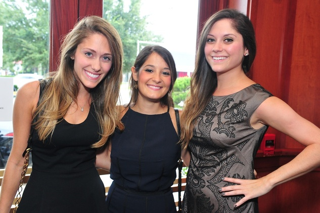 Hillary Rosenstein, from left, Dayna Skolkin and Mary Rubenstein at the Holly Rose Ribbon Foundation Day dinner September 2014
