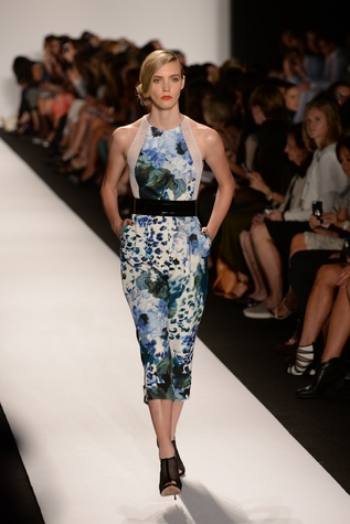 Carmen Marc Valvo spring 2015 collection floral dress
