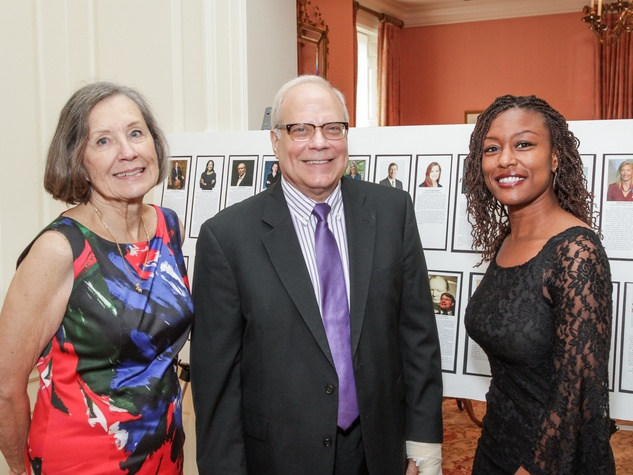 City ArtWorks luncheon April Gauss, Joe Schenk, Kiera Howell