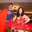 "Superman and Wonder Woman at Crossroads School's ""Superhero Soiree"" Gala February 2015"