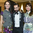9 Beth Muecke, from left, Fady Armanious and Karina Barbieri at the I Am Waters Luncheon April 2014