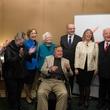 George H.W. Bush joking with party at the Leipzig Gewandhaus reception November 2014