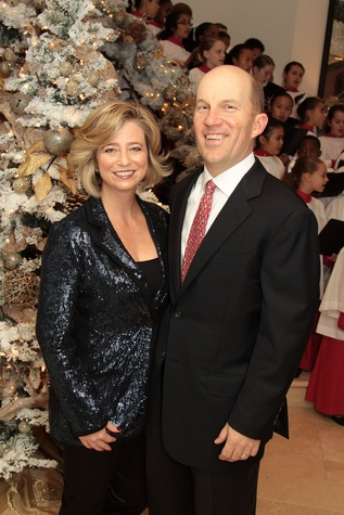 Laura and Andrew McCullough at the 9th Annual Santa's Elves Event December 2014