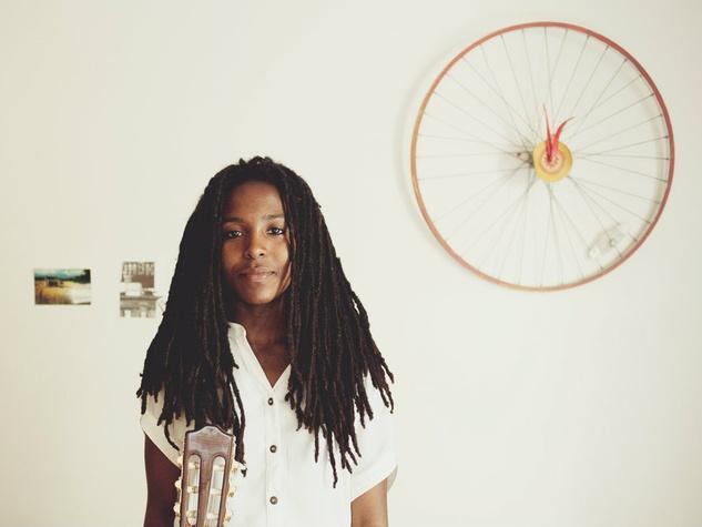 Aisha Burns with wheel