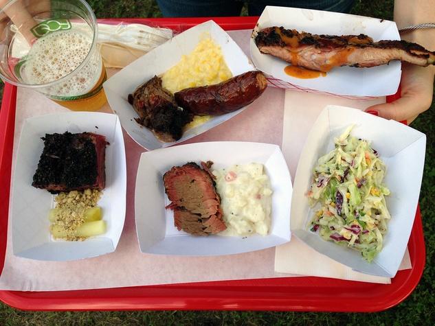 Travaasa tray of BBQ