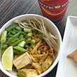 Tofu with scallions at Wok Box pan Asian restaurant
