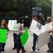 protestors of Equal Rights Ordinance with signs outside City Hall May 13, 2014
