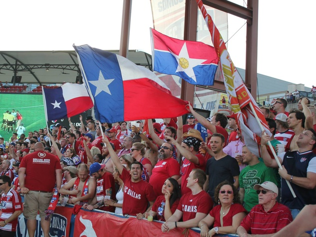 Fans at FC Dallas Stadium