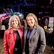 Diane Barber, left, and Karen Niemeier at HAA Iluminación November 2014