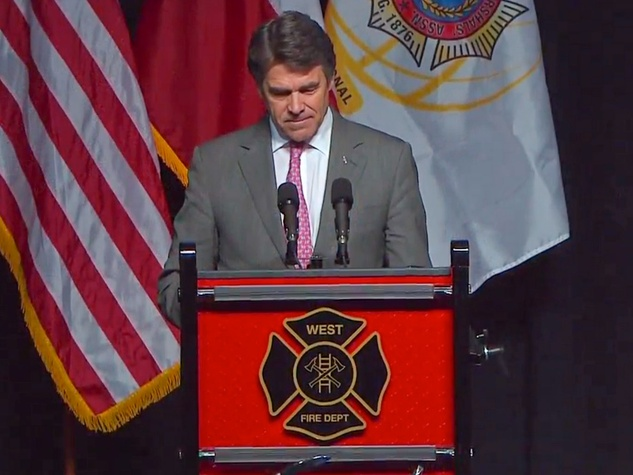 West, Texas, memorial service April 2013 Rick Perry
