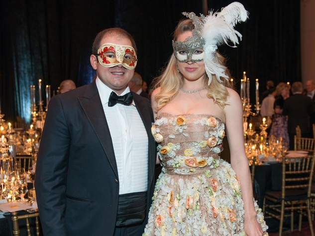 23 Phillip and Lori Sarofim Masks at the Houston Ballet Ball February 2015