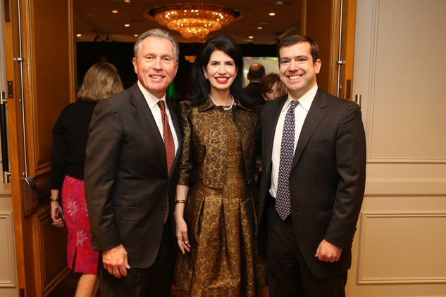 12 Martin Fein and Dr. Kelli Cohen Fein, from left, with Daniel Fein at the Guardian of the Human Spirit luncheon November 2014