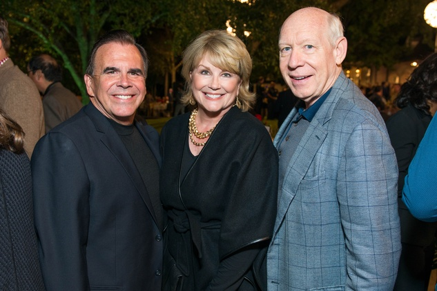 Tim Connelly, from left, Jan Carson and Bill White at the True Blue Gala November 2014