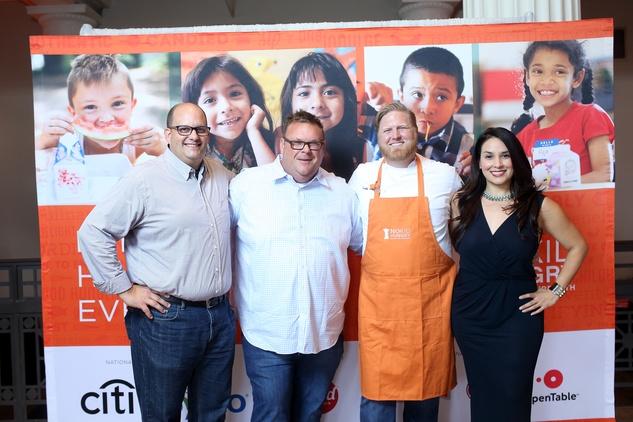 News, Taste of the Nation, Sept. 2015,  Daniel Vaughn, from left, Chris Shepherd, Randy Evans and Alba Huerta.