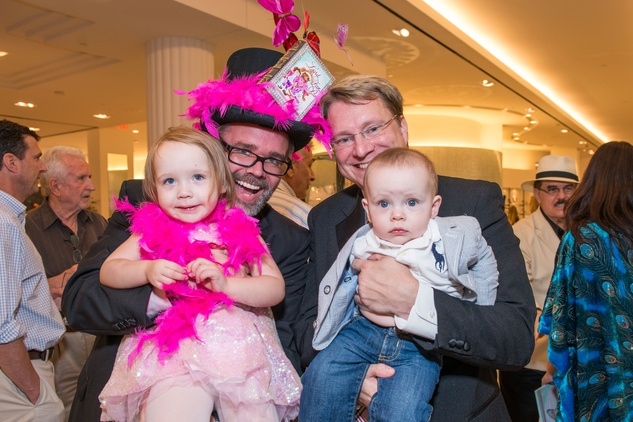 142 Estelle Burrus-Pearce, from left, Michael Pearce, Matthew Burrus and Winston Burrus-Pearce at Lord Fancy Pants book launch October 2014