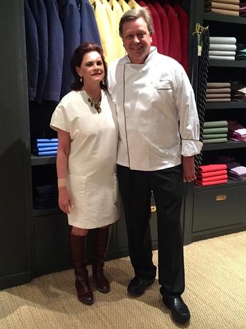 Ruth Meric and Mark Cox at Sid Mashburn + Ann Mashburn Houston Anniversary Party December 2014