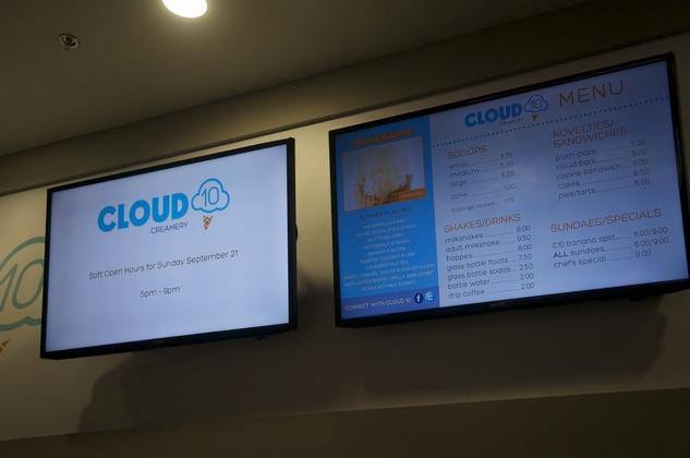 Cloud 10 Creamery Menu
