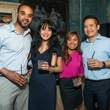12 Ramon Carey, from left, Diana Pham, Kaiden Tong and Hao Chen at the CultureMap Summer Social July 2014