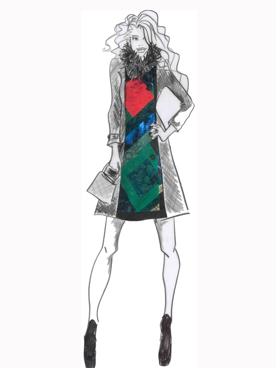 Designers' sketches fall 2014 collections Desigual