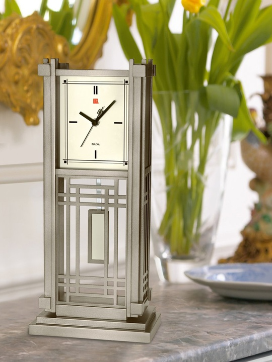 Frank Lloyd Wright Collection from Bulova standing clock from Macy's
