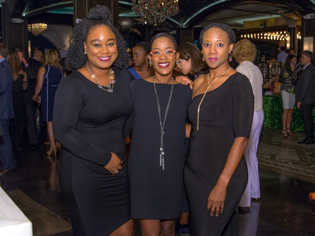 Houston, Writers in the Schools gala, Dec 2016, Myeshia Brown, Juni Langham, Shenese Davis