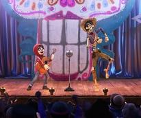 Anthony Gonzalez and Gael Garcia Bernal in Coco
