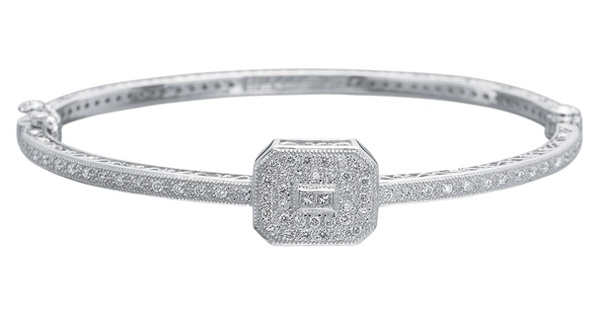 Charriol Art Deco Diamond Bangle