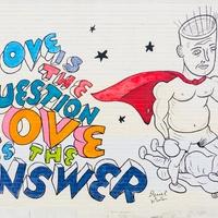 Daniel Johnston mural Nau's love is the question