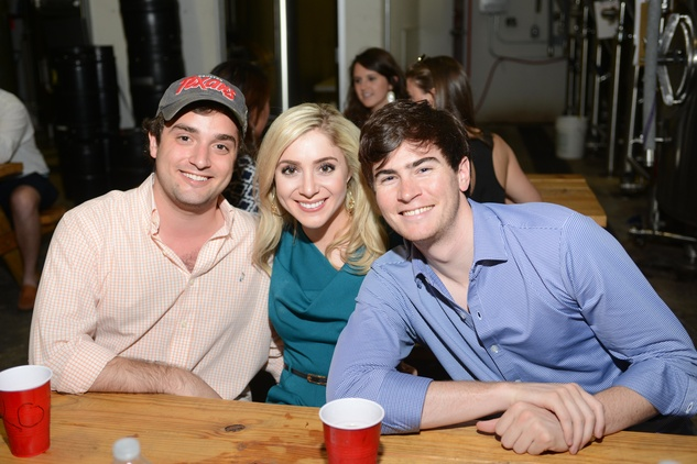20. Nik Kapetanakis, from left, Kelcy Mayell and James Moreton at the Bayou Preservation Association Herons party June 2014